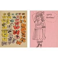 Andy Warhol, 'Happy Butterfly Day; Merry Christmas', circa 1955