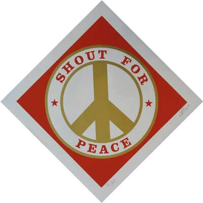 Robert Indiana, 'Shout for Peace (Red/Gold)', 2014