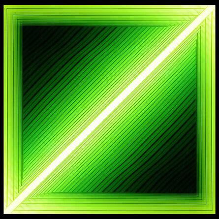 Chul-Hyun Ahn, 'Forked (Diagonal Green)', 2012