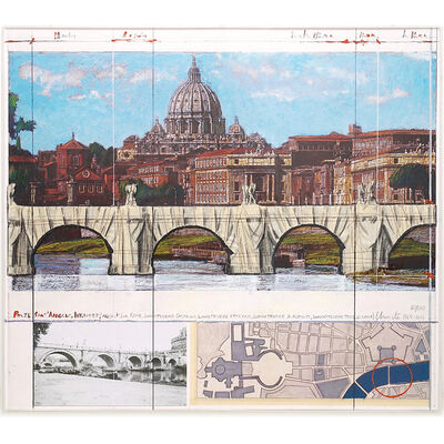 Christo, 'Ponte Sant'Angelo, Wrapped', 2011