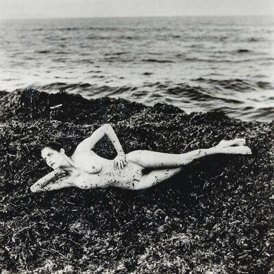 Helmut Newton, 'Nude on Seaweed, Saint Tropez', 1984