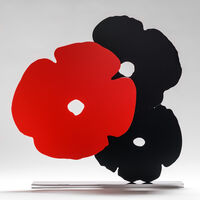Donald Sultan, 'Red and Black Poppies', 2018