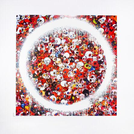 Takashi Murakami, 'Enso: Memento Mori Red', 2015