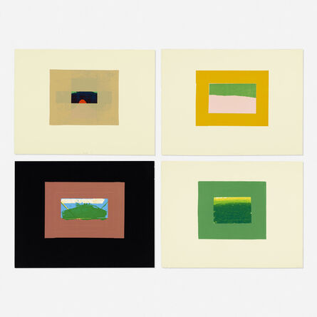 Howard Hodgkin, 'Four works from the Indian Views series', 1971