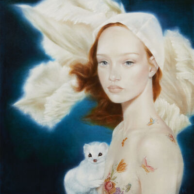 David Michael Smith, 'Girl with Ermine (color study)', 2014