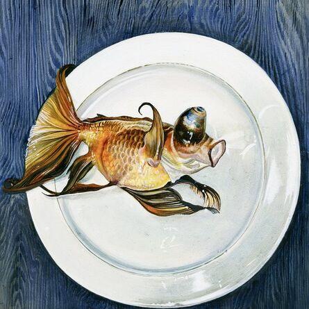 Ishbel Myerscough, 'Goldfish on plate', 2013