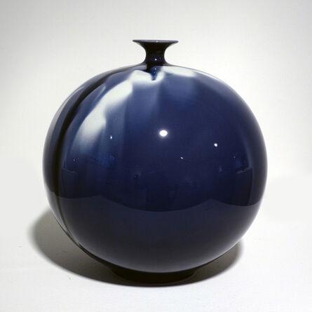 Tokuda Yasokichi IV, 'Jar - Blue Diamond Flower 02', 2010