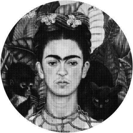 Alex Guofeng Cao, 'Hard Headed Woman Frida vs Salma', 2020