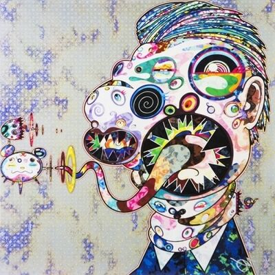 Takashi Murakami, 'Homage to Francis Bacon (Study for Head of Isabel Rawsthorne and George Dyer) Right ', 2016