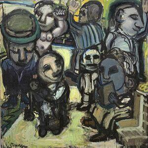 Jay Milder, 'Subway Riders 9', 1958