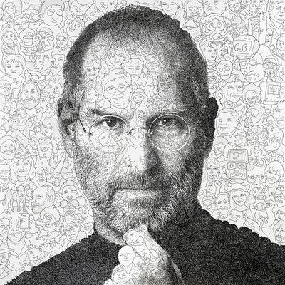 Keita Sagaki, 'Hystorical Portraits vol. 4 - Steve Jobs', 2020