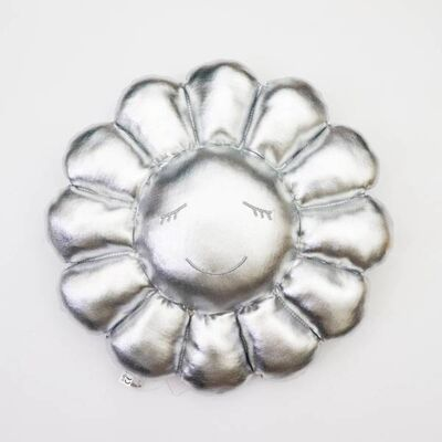 Takashi Murakami, 'Flower Cushion 60 cm (Silver)', 2020