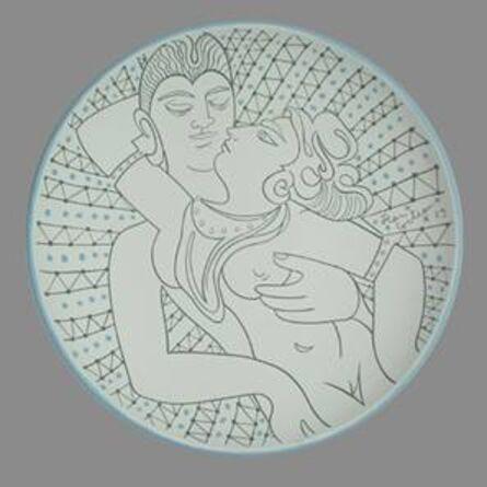 Jean Cocteau, 'Couple aux Rayons', 1961