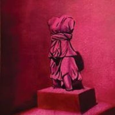 Barbara Able, 'Serenity - Classic Greek Sculpture, deep red color', 2020