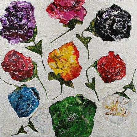 Haleh Mashian, 'Multicolor Rose', 2018