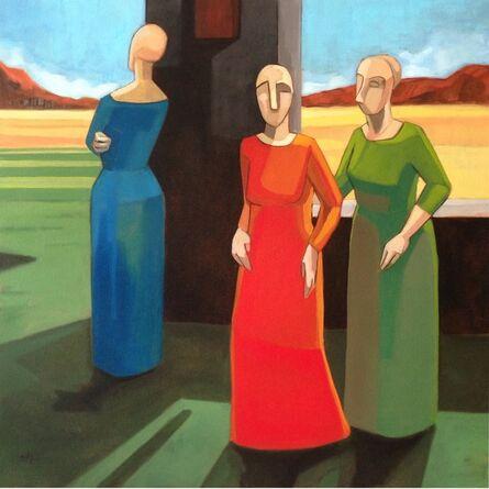Sandro Nocentini, 'Women waiting ', 2014