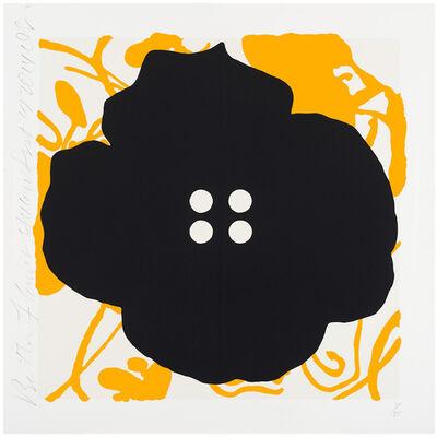 Donald Sultan, 'Button Flower Yellow, Sept 17, 2014', 2014