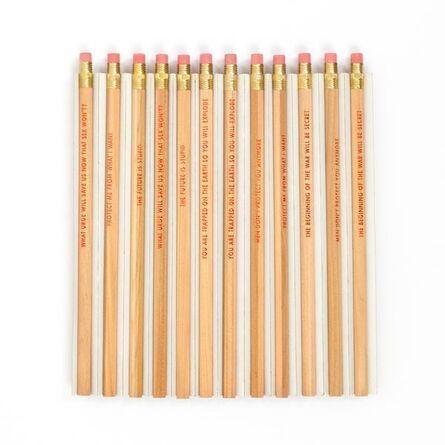 "Jenny Holzer, '""Survival"" Pencils Set', 1991"