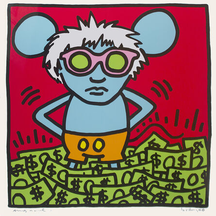 Keith Haring, 'Andy Mouse, An Homage to Andy Warhol', 1986