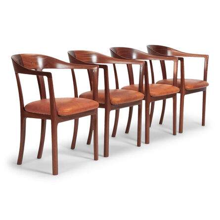 Ole Wanscher, 'Set of four armchairs', 1958