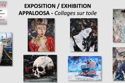Collages on canvas Appaloosa exhibtion