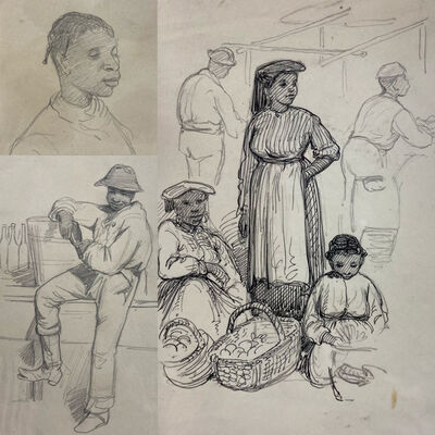 James Wells Champney, 'Sketches of the Reconstruction Era American South', 1873