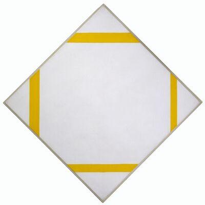 Piet Mondrian, 'Lozenge Composition with Four Yellow Lines', 1933