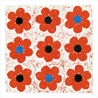 Claire Lieberman, 'Poppies Tic Tac Toe', 2003