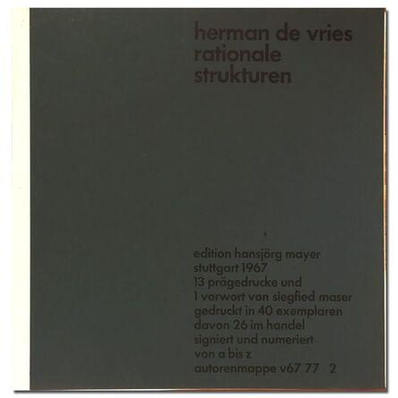herman de vries, 'Rationale Strukturen', 1967