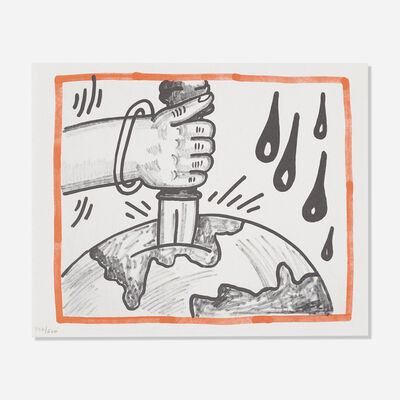 Keith Haring, 'Untitled (from Against All Odds, 20 Drawings)', 1990
