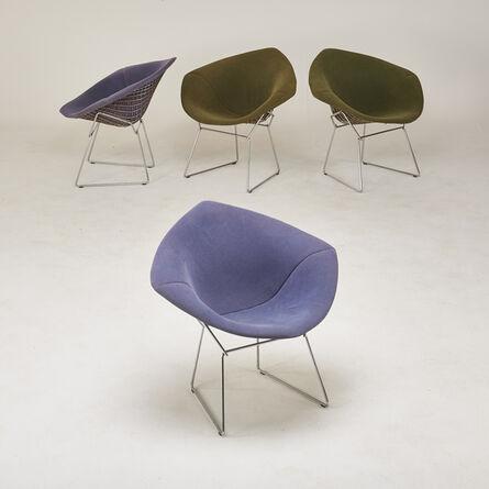 "Harry Bertoia, 'Set of four ""Diamond"" armchairs', 1970s/80s"