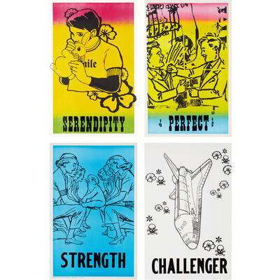 FAILE, 'Challenger, Strength, Serendipity, Perfect', 2001