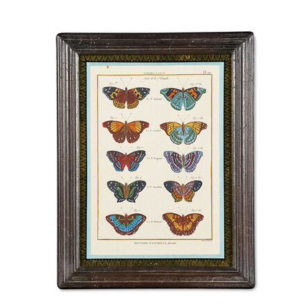 Bernand Direxit, 'Six hand-colored engravings of butterflies', ca. 1797