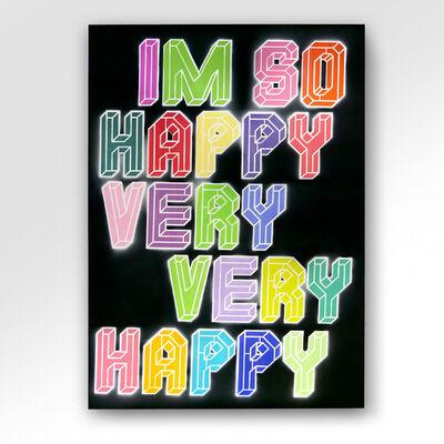 Ben Eine, 'I'm So Happy Very Very Happy ', 2021