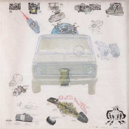Ant Farm, 'Ant Farm Meda Van v.08 [Time Capsule], Front Elevation', 2008