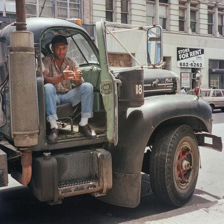 Janet Delaney, 'Driver, Mack Truck, Lower Broadway, 1985', 2021