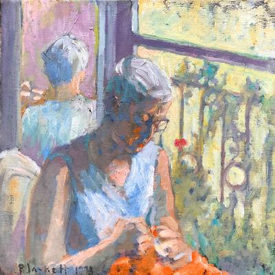 Joseph Plaskett, 'Untitled (woman knitting)', 1973
