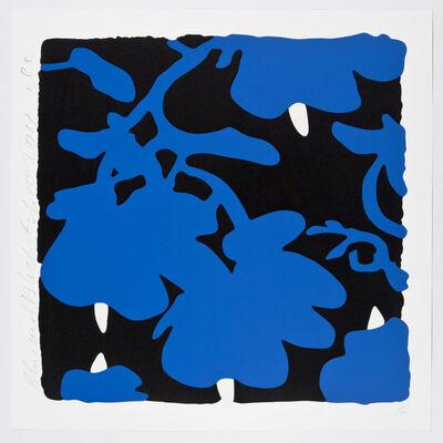 Donald Sultan, 'Blue and Black, Feb 10, 2017', 2017