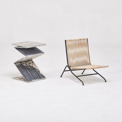 Alan Gould, 'Salesman sample miniature lounge chair, together with side table attributed to Willie Guhl', 1950s