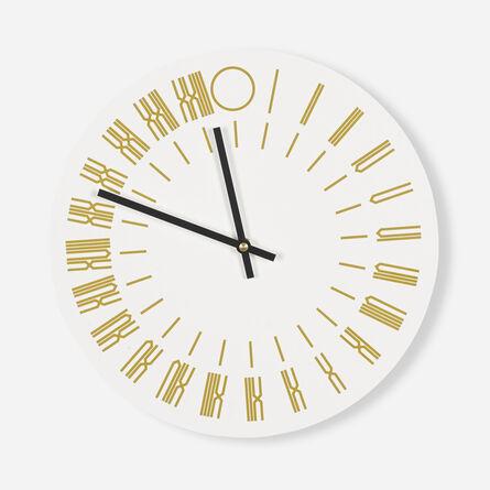 Tauba Auerbach, '24-Hours Wall-Clock', 2013