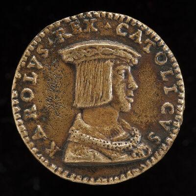 Giovanni Maria Pomedelli, 'Charles V, 1500-1558, King of Spain 1516, Holy Roman Emperor 1519-1556 [obverse]'