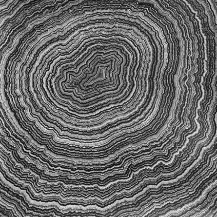 David Paul Kay, 'Geometric Abstraction, black and white abstract -'032220' Lifespan Series', 2020
