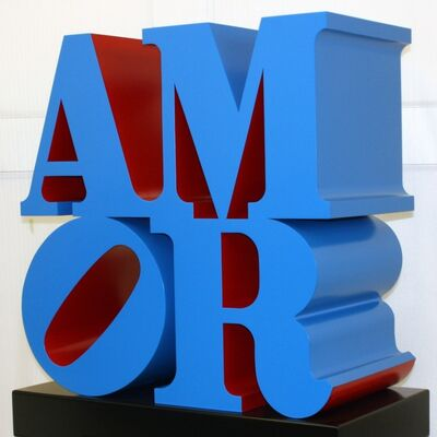 Robert Indiana, 'AMOR (Blue, Red)', 1998
