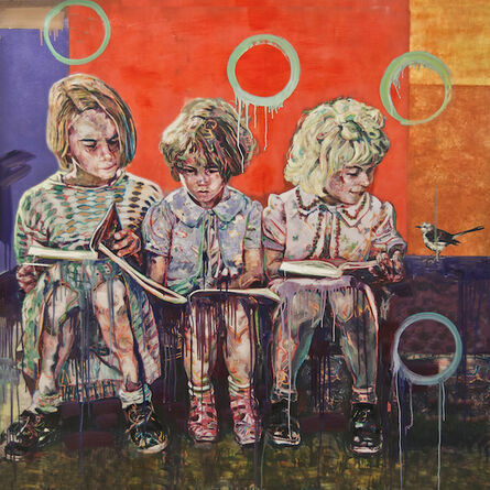 Hung Liu 刘虹, 'Sisters – in – Books', 2017