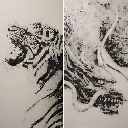 Naoya Egawa, 'Tigre et dragon (Diptyque I et II)', 2019