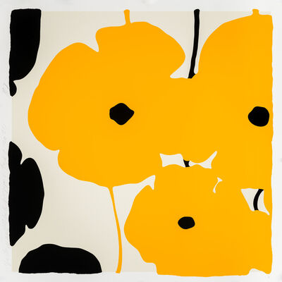 Donald Sultan, 'Yellow and Black Poppies', 2020