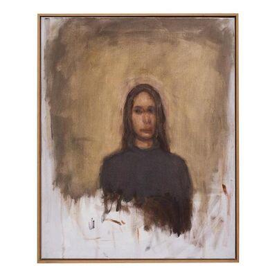 Axel Geis, 'Kopf vor braunem Grund', 2006