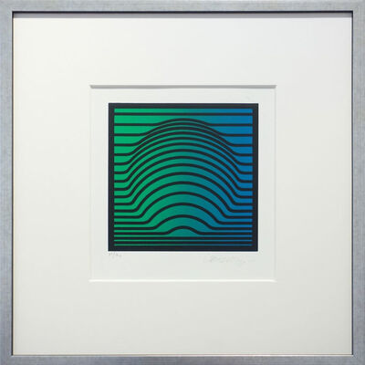 Victor Vasarely, 'Suomi green-blue', 1975