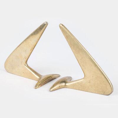 Carl Auböck, 'Brass Bookends', 1950-1960