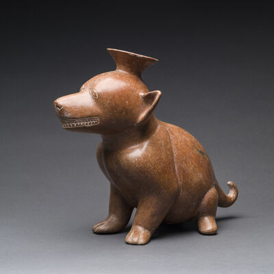 Unknown Pre-Columbian, 'Colima Terracotta Vessel in the Form of a Dog', 300 BC to 300 AD
